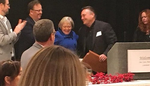 (Image of Fishers Lifetime Achievement Award winners Ron and Michele Archer courtesy of OneZone.)