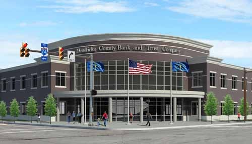 (rendering courtesy Hendricks County Bank and Trust Co.)