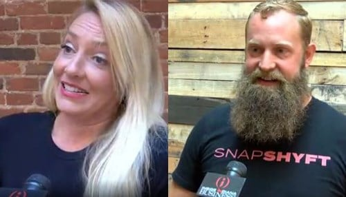 SnapShyft is cofounded by Stephanie Corliss (pictured left) and Thor Wood (pictured right).