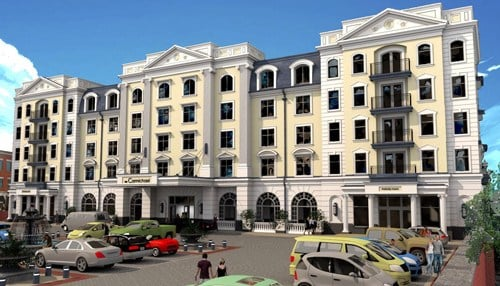 (Rendering of planned hotel provided by the City of Carmel.)