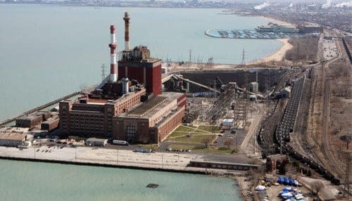 The State Line Generating Plant site was included in the pitch for Amazon's second headquarters. (photo courtesy The Times of Northwest Indiana).