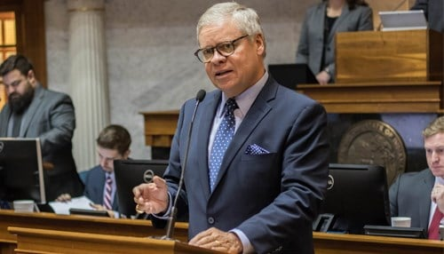 (Image of Senator Ron Alting courtesy of the Indiana Senate Republicans.)