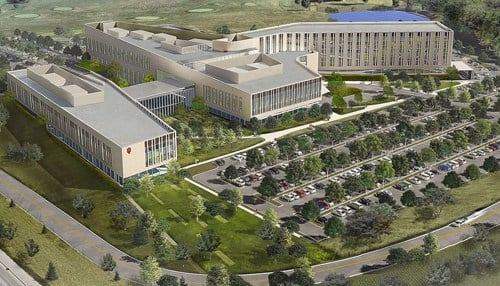 (Rendering of campus provided by IU Health Bloomington.)