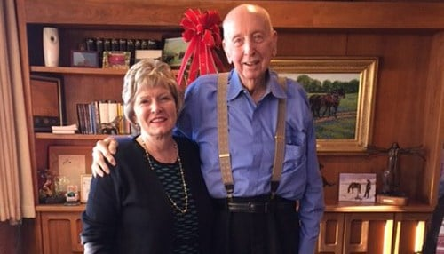 Leland Boren and Huntington University President Sherilyn Emberton