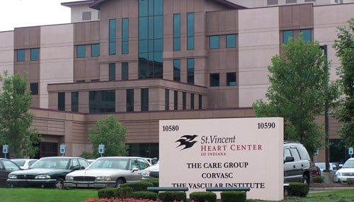 St. Vincent Heart Center in Indianapolis is among the Indiana hospitals on the list.