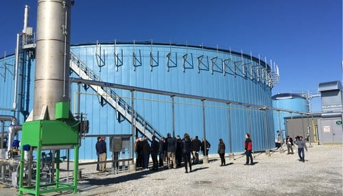 The anaerobic digester in Greensburg is Kroger's second built in the U.S. (photo courtesy Kroger)