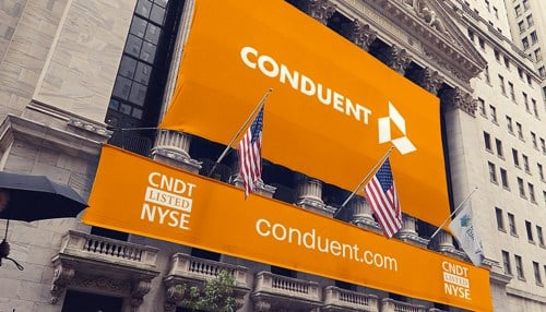 Conduent went public on the New York Stock Exchange in 2017.