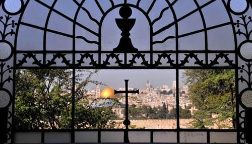 (Image of Jerusalem from Dominus Flevit Church courtesy of the University of Notre Dame.)