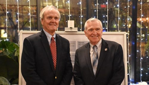 Moll (left) with Fort Wayne Mayor Tom Henry (photo courtesy city of Fort Wayne)