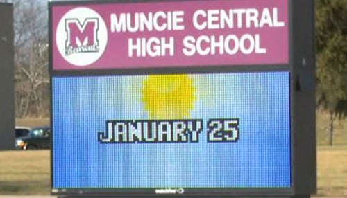 Muncie Central High School is the only high school in the school district.