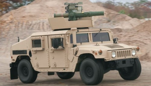 The contract modification involves the M1167 series of Humvee.