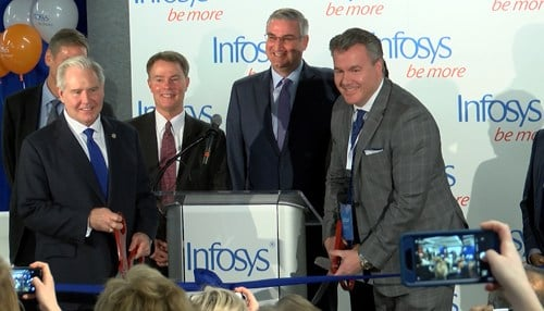 Officials cut the ribbon on the Indianapolis hub in March.