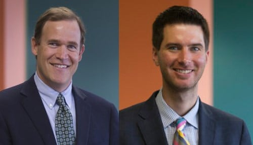 (Images of David Harris [pictured left] and Brandon Brown [pictured right] courtesy of The Mind Trust.)