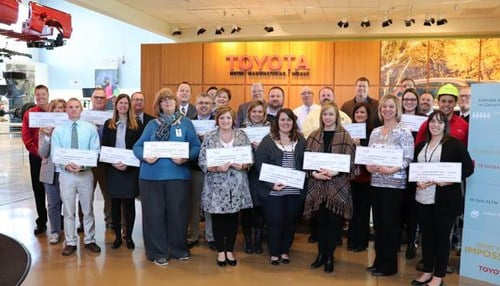 Representatives from the 22 schools gathered at the Toyota Indiana Visitors Center Wednesday.