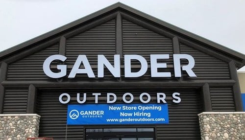 Exterior of new Gander Outdoors location in Greenfield