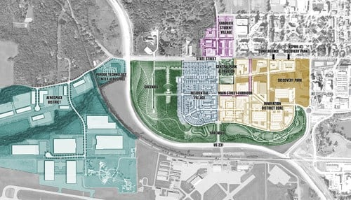 (Discovery Park District rendering courtesy of Purdue University.)