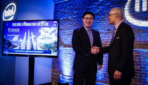 Purdue and Intel announced the collaboration this week at the RSA Conference in San Francisco. (photo courtesy Intel/Matt H. King)