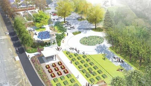 Rendering of Switchyard Park in Bloomington
