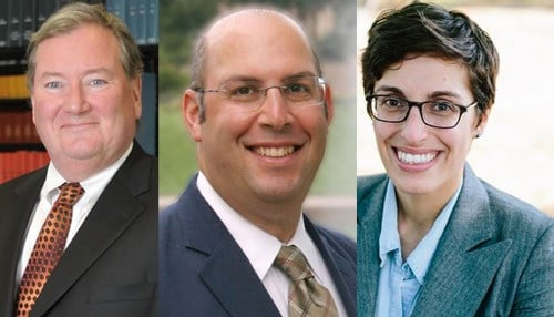 (Images courtesy of Indiana University.) From left-to-right: Nicolas Terry, Ross Silverman, Aila Hoss.