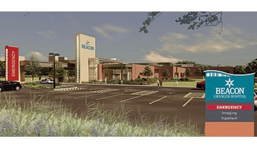 (Rendering of Beacon Health Granger provided by Beacon Health.)