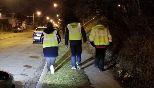 (Image courtesy of Rev. Charles Harrison.) The organization's efforts include overnight patrols of high-crime areas.