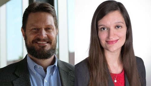 (Image of Ryan Brewer [pictured left] and Kayla Freeman [pictured right] courtesy of Indiana University.)