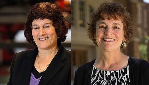 Karen Plaut (left) and Nancy Marchand-Martella (right)
