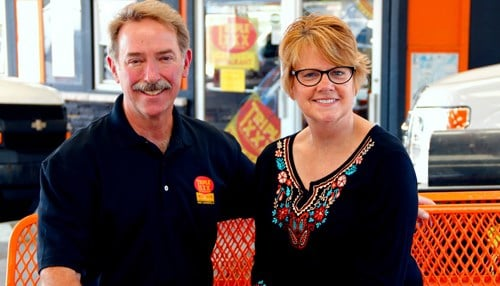 (Image of Greg and Carrie Ehresman courtesy of the Triple XXX Family Restaurant.)