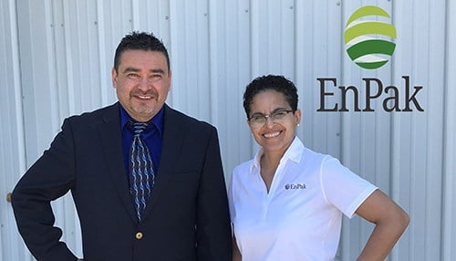 EnPak Vice President of Operations Rick Rivera (left) and CEO Marlene Mulero-Betances. (photo courtesy EnPak)
