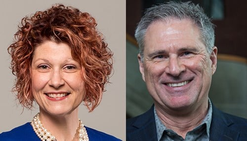 (Images of Jennifer Bott [left] and Phil Repp [right] courtesy of Ball State University.)