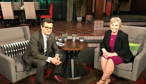 Vanessa Ament and TCM Host Ben Mankiewicz (photo courtesy TCM)