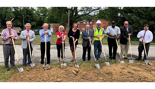 Groundbreaking of new water treatment plant in Muncie (photo courtesy of Indiana American Water)