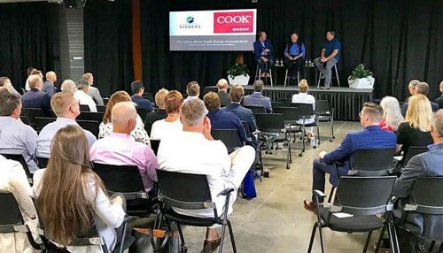 The discussion took place at the IoT Lab in Fishers.