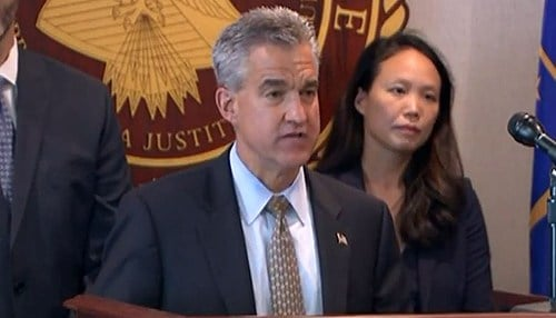 U.S. Attorney Josh Minkler detailed the sentence during a Friday news conference. (photo courtesy WTHR-TV)