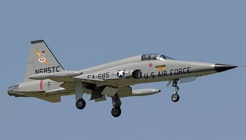 The event will feature an F-5 military demo. (photo courtesy America's Freedom Fest)
