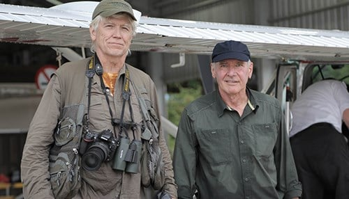 Ford (right) and Russell Mittermeier, who will receive this year's Indianapolis Prize. (photo courtesy Indianapolis Zoological Society)