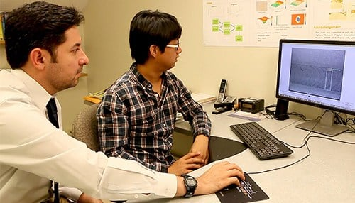 Mohammad Jahanshahi (left) is one of the recipients. (photo courtesy Purdue University)