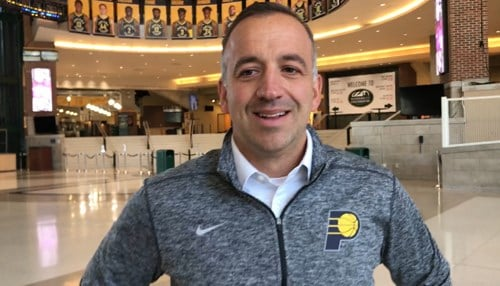 Brent Rockwood is in his first season as a vice president with Pacers Sports & Entertainment.