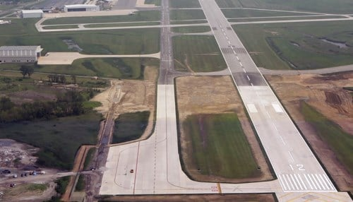 The city says the project positions the airport to attract more types of aircraft and serve more markets.