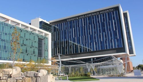 This morning's event is set for 10:00 a.m. at the Sidney & Lois Eskenazi Hospital in Indianapolis.