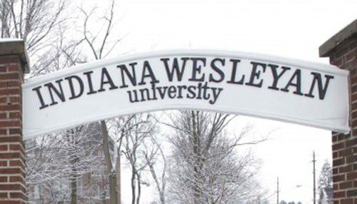 Indiana Wesleyan University is the highest-ranked Hoosier school on the list.