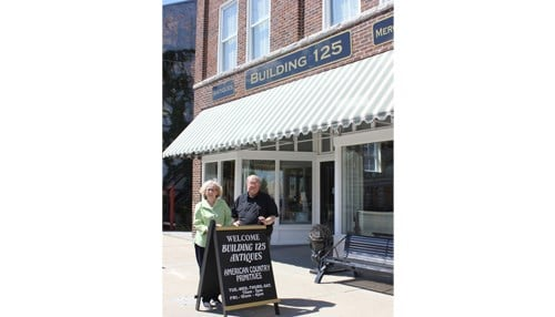 Jim and Norma Bertsch restored a historic block in Cambridge City and helped revitalize the National Road town. Photo: Indiana Landmarks
