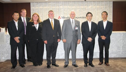 Pence joined executives in Tokyo for the announcement.