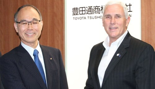 Governor Mike Pence and and his economic delegation met with Toyota Tsusho executives, including Mr. Yokoi.
