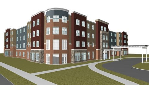 Rendering of the Kokomo Residential Care Facility courtesy of Worn Jerabek Wiltse Architects, P.C.