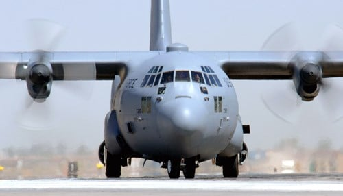 (Image Courtesy: U.S. Air Force) Engine parts for the C130J are manufactured at Rolls-Royce in Indianapolis.