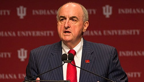 McRobbie took the helm at Indiana University in 2007.