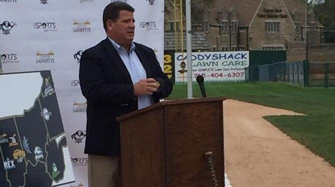 (Image Courtesy: MKE Sports & Entertainment) Mayor Tony Roswarski joined team and other city officials to launch the team.