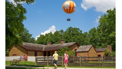 Conner Prairie Interactive History Park covers 800 acres.