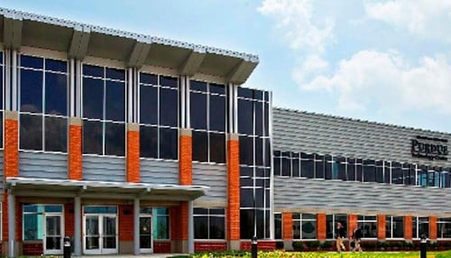 The 105,000 square-foot Kurz Purdue Technology Center in West Lafayette is Purdue Research Park's flagship incubator and the location of Purdue Research Foundation's headquarters.